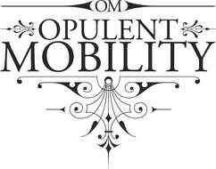 Fancy logo for Opulent Mobility with curliques